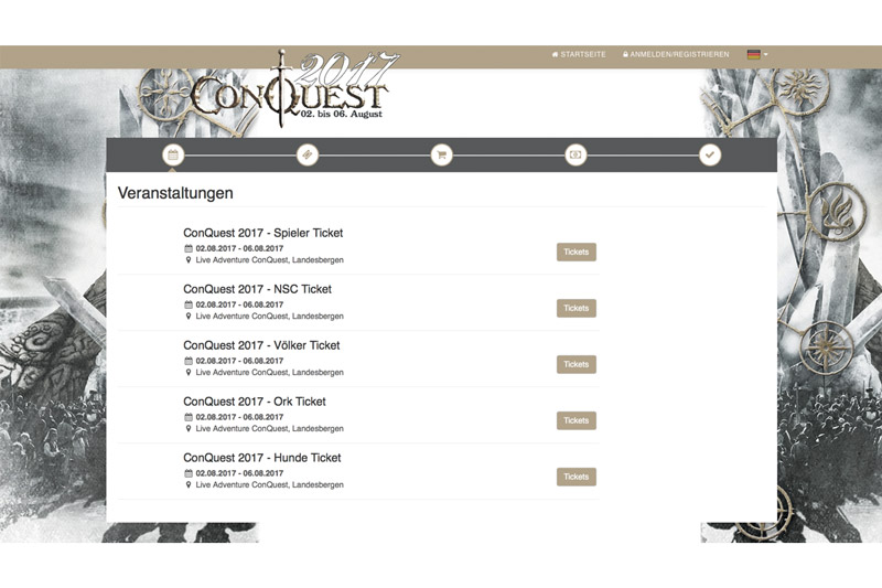 Link zum Ticketshop Conquest of Mythodea
